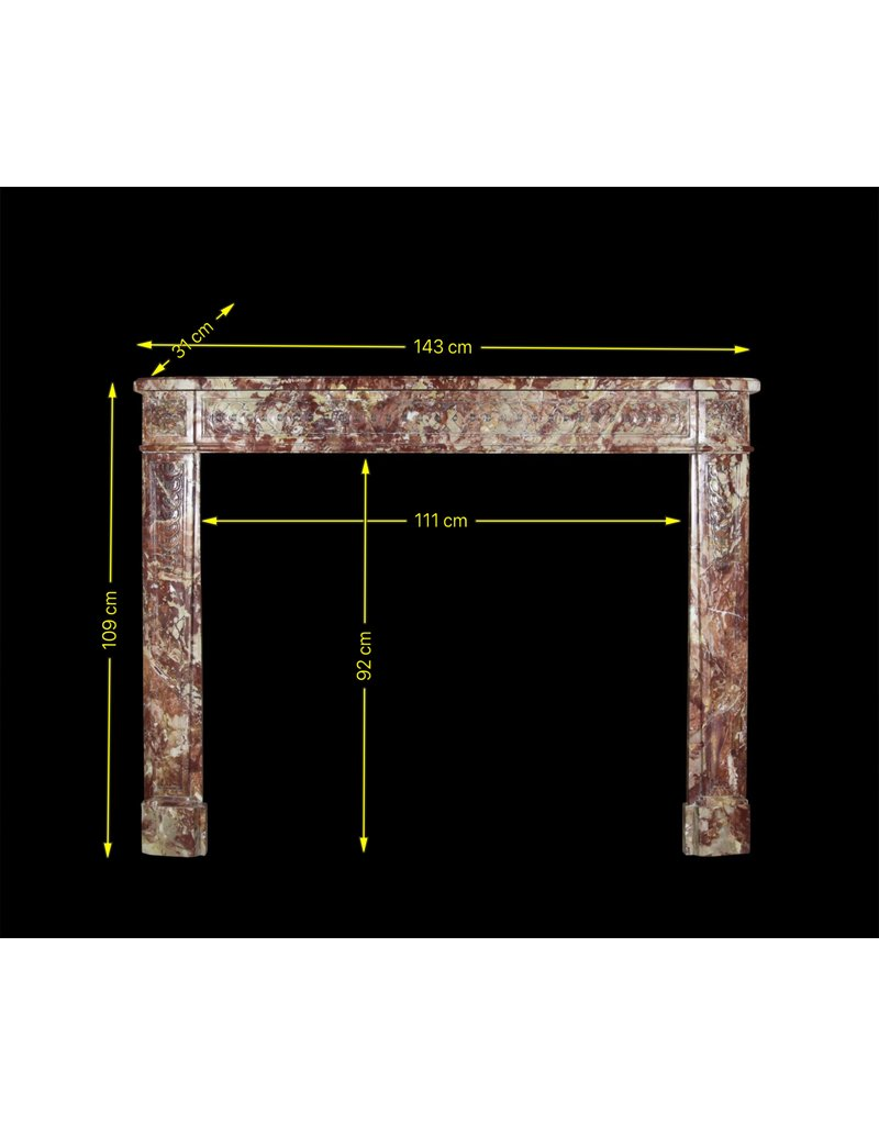 The Antique Fireplace Bank Rich In Color Antique Marble Fireplace Surround