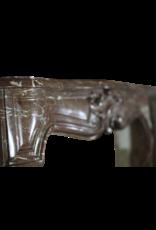 Klassische Belgische Regentschaft Period Marmor Kamin Maske