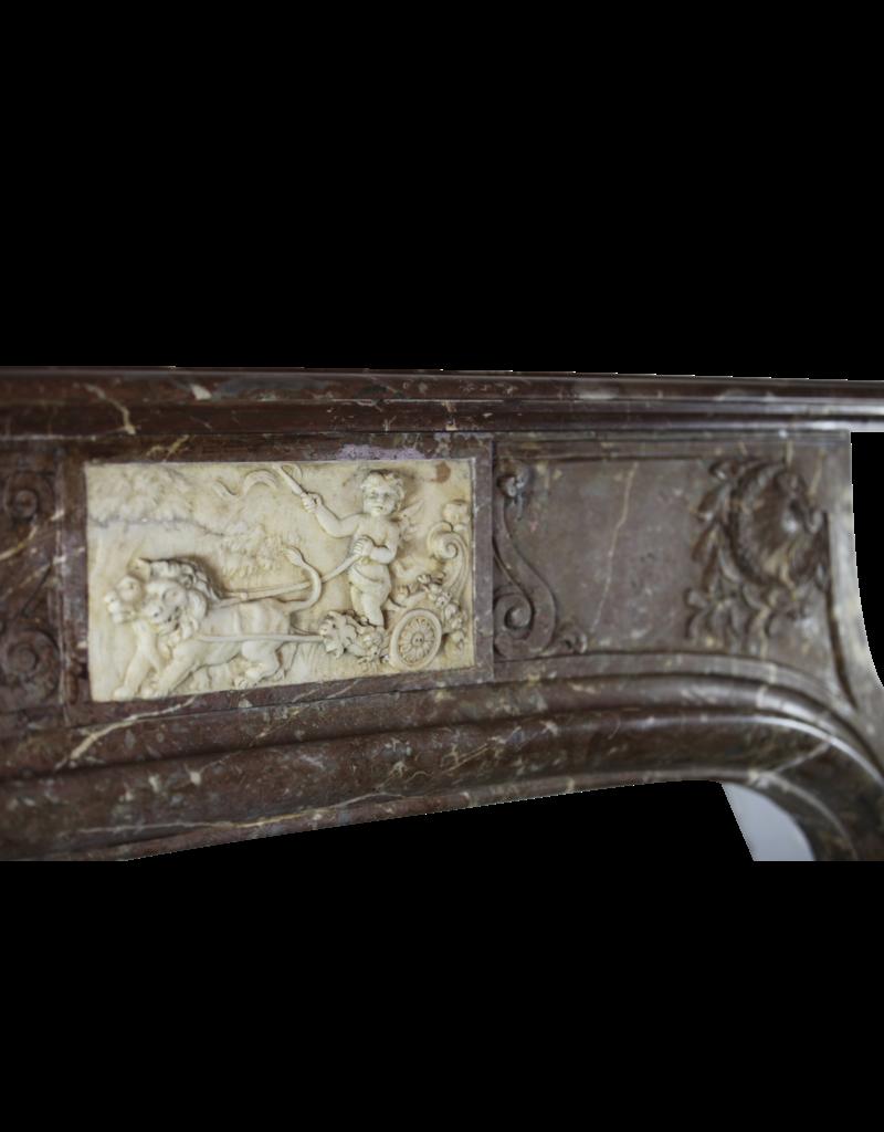 Außergewöhnliche Antike Kamin Maske In Marmor