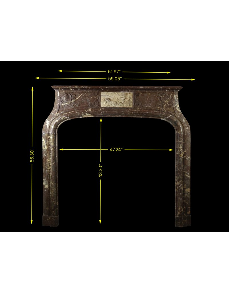 Exceptional Antique Fireplace Surround In Marble