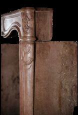 Original Venetian Hard Stone Antique Fireplace Surround