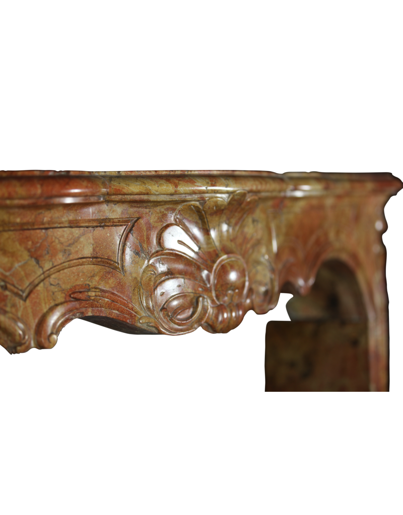 The Antique Fireplace Bank 18Th Century Bicolor Stone Created By Nature French Fireplace Surround