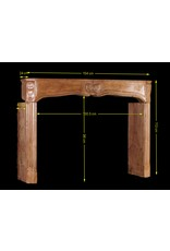 The Antique Fireplace Bank 17Th Century Delicate French Hard Stone Fireplace Surround