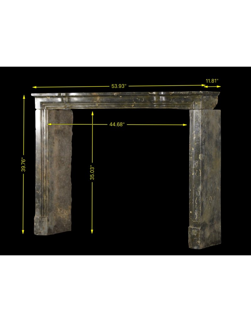 17Th Century Delicate French Hard Stone Fireplace Surround