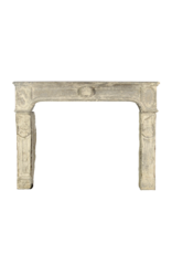 The Antique Fireplace Bank 18Th Century Fine French Vintage Fireplace In Limestone