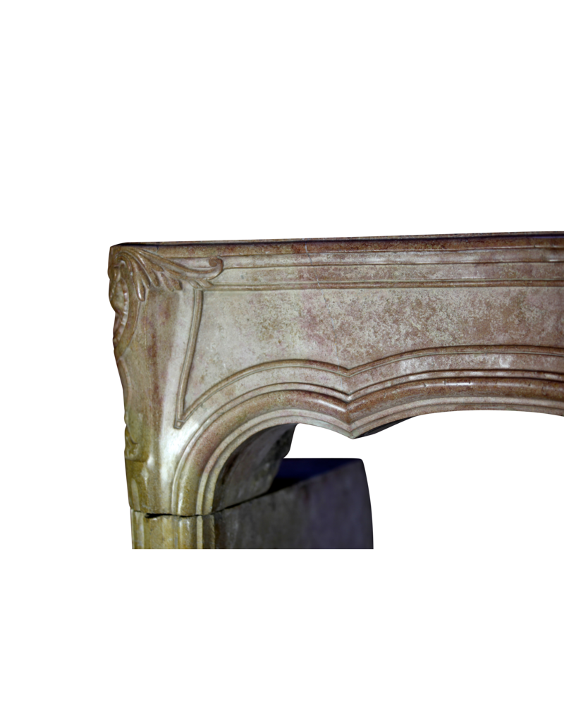 18Th Century Chique Bicolor French Fireplace Surround