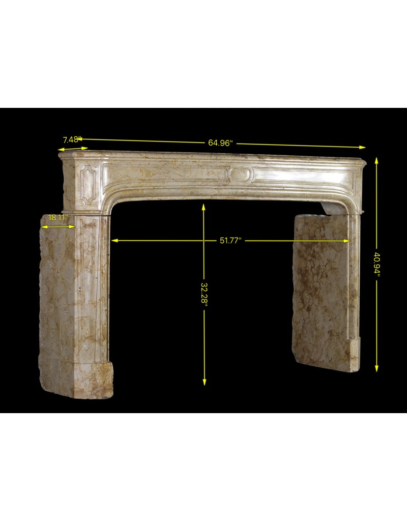 Chique 18Th Century Antique Marble Fireplace Surround