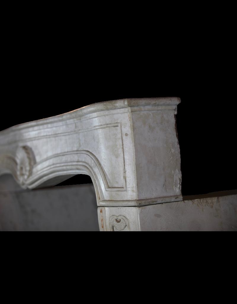 Französisch Louis Xv Zeitraum Kalkstein Kamin Verkleidung