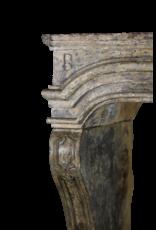 Französisch Landhausstil Des 17. Jahrhunderts Periode Kalkstein Kamin Maske