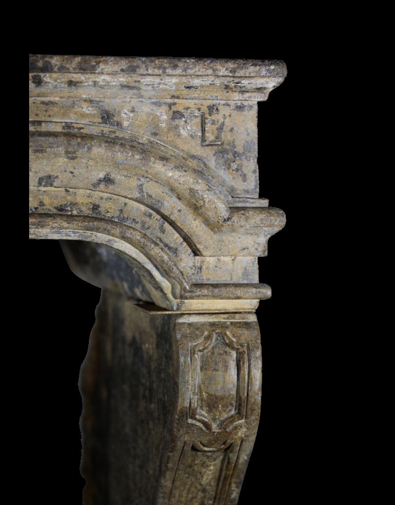 Francés Del Estilo De País Del Siglo 17 Período De Piedra Caliza Chimenea Surround