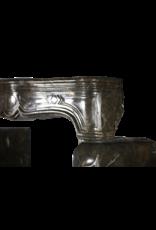 17. Jahrhundert Chique Französisch Antike Kamin Maske In Dark Fossil Stein