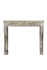 One Of Kind French Limestone Antique Fireplace Surround