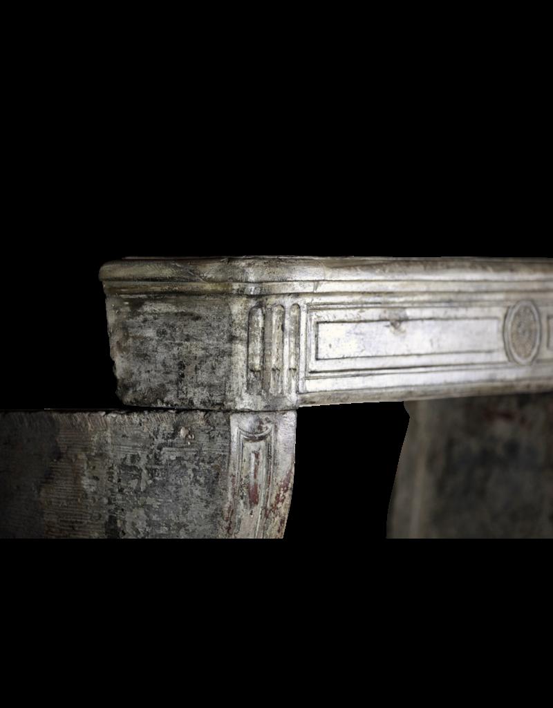 Einer Der Art Französisch Kalkstein Antike Kamin Maske