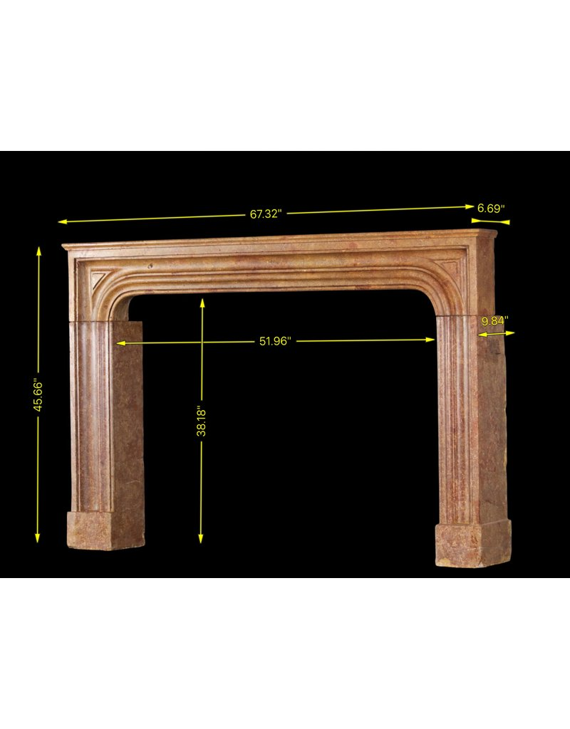 The Antique Fireplace Bank 17Th Century Small Italian Hard Stone Fireplace Surround