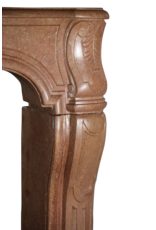 Französisch Zweifarbig zeitloses Kalksandstein Antike Kamin Maske