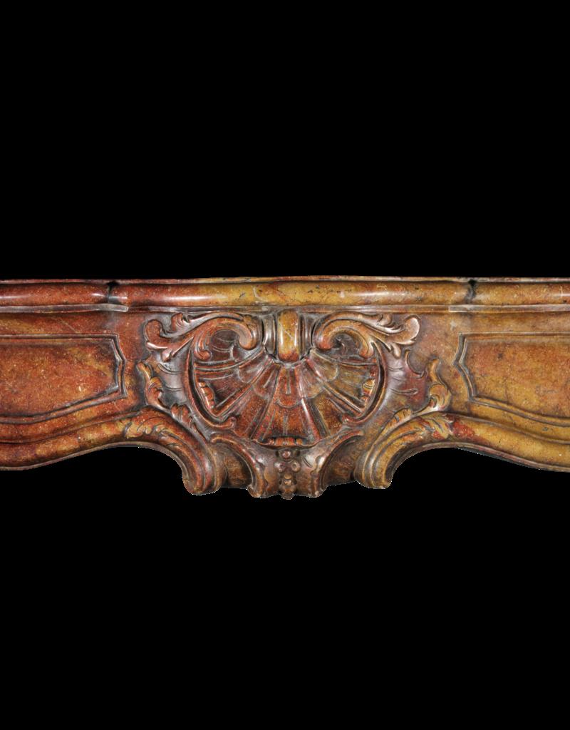 18. Jahrhundert Zweifarbig Französisch Antik Kamin Maske