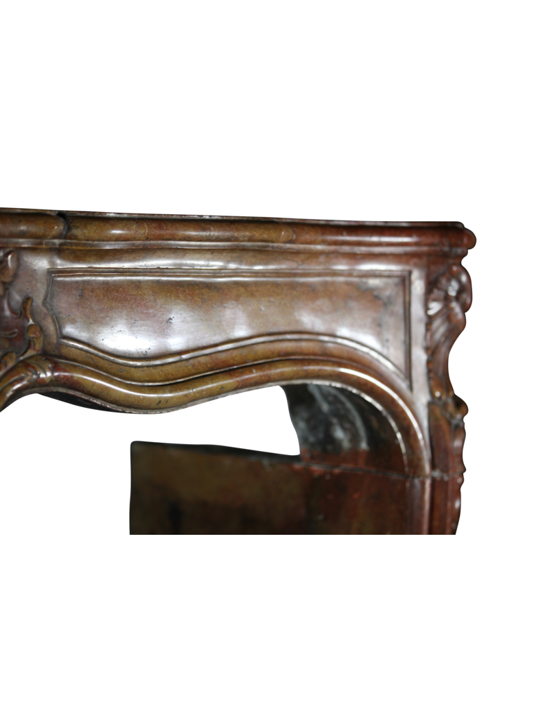 18Th Century Bicolor French Antique Fireplace Surround