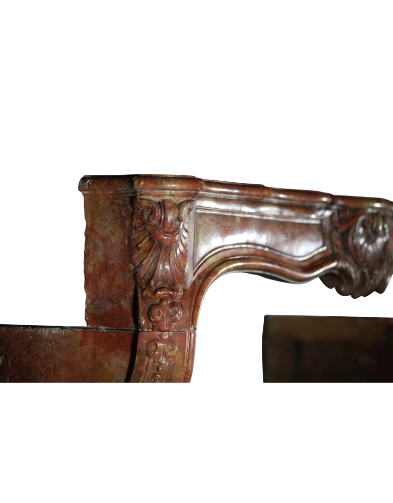The Antique Fireplace Bank 18. Jahrhundert Zweifarbig Französisch Antik Kamin Maske