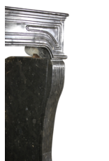 Groß 17. Jahrhundert Antike Kamin Maske In Fossil Hartstein