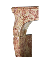 Groß 18. Jahrhundert Zweifarbig Französisch Antik Kamin Maske
