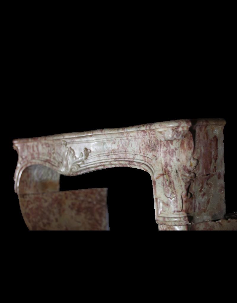 Gran Siglo 18 Bicolor Francés Antiguo Chimenea