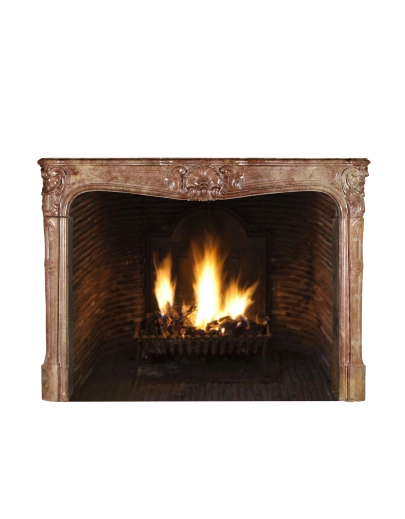 Classic Chique French Vintage Fireplace Surround In Hard Stone