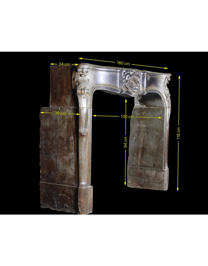 18Th Century Strong French Antique Fireplace Surround