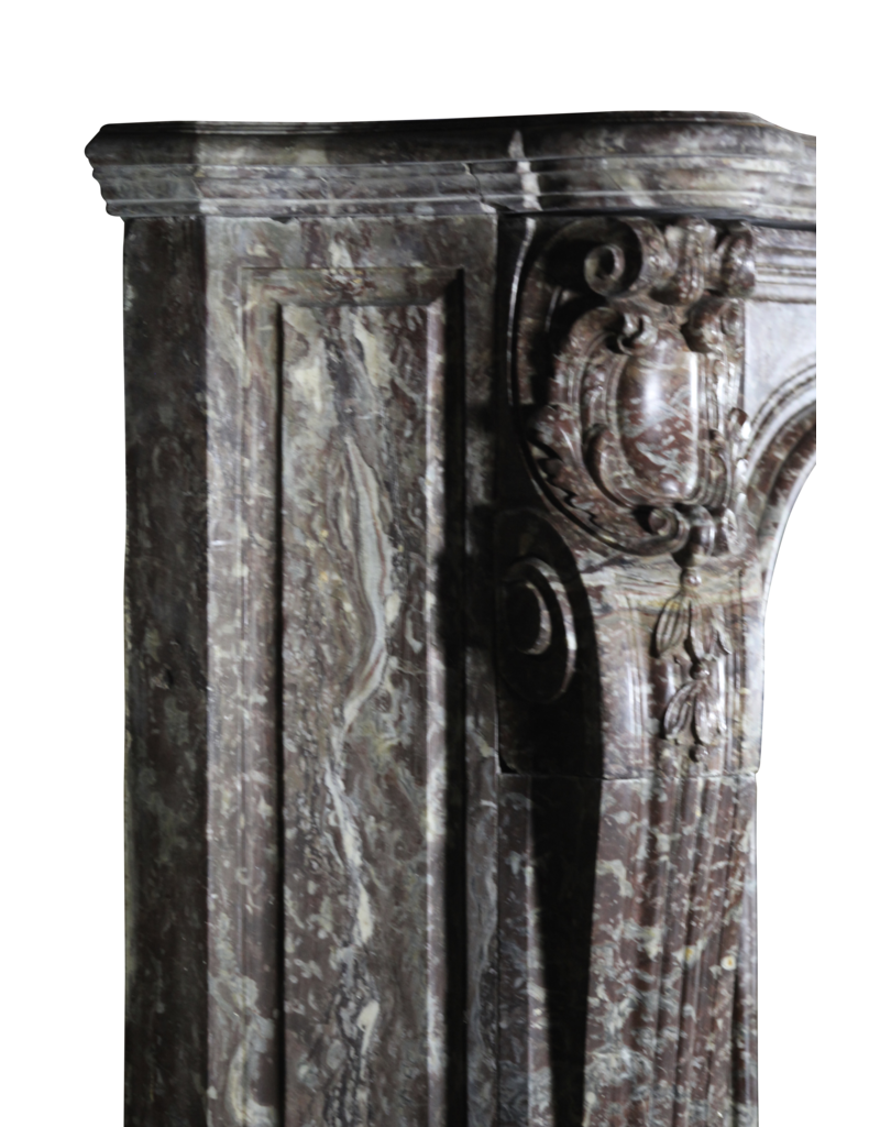 Extreme Grand Belgian Marble Vintage Fireplace Surround