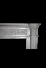 Groß 19. Jahrhundert Weiß Statuarisch Marmor Jahrgang Kamin Maske