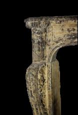 Französisch Chique Land-Art-Kalkstein Großer Kamin Maske