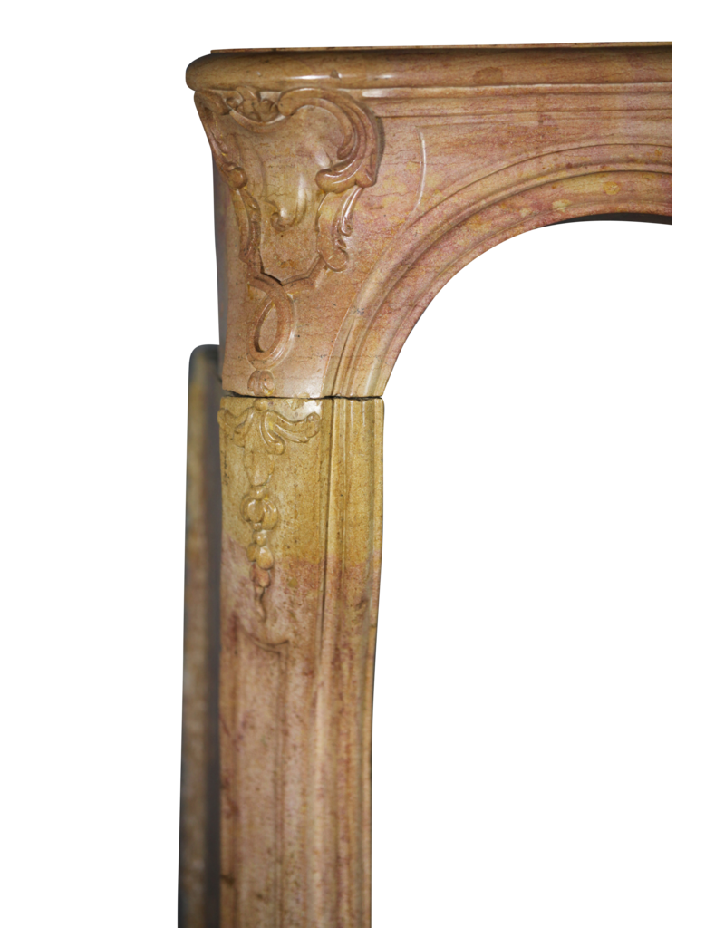 Fine French Antique Marble Stone Chimney Piece