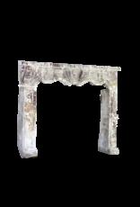 Italian Chique Country Limestone Fireplace Mantel
