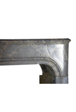 The Antique Fireplace Bank 17th Century Louis XIV Timeless French Vintage Marble Stone Antique Fireplace