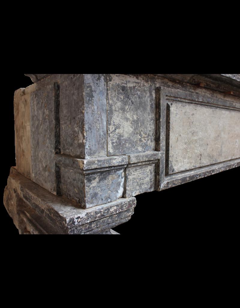 Gran Francés Chique Período Renaiscance Antiguo Revestimiento En Piedra Caliza