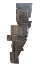 The Antique Fireplace Bank Groß Französisch Chique Renaiscance Periode Antike Kamin Maske Im Kalkstein