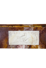 Fine Art Deco Period Antique Fireplace Surround In Onyx With Paradise Birds