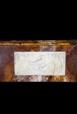 The Antique Fireplace Bank Fine Art-Deco-Periode Antike Kamin Maske In Onyx Mit Paradise Birds