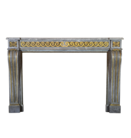 Grand Salon Fireplace Surround In Louis XVI Style With Original Brass