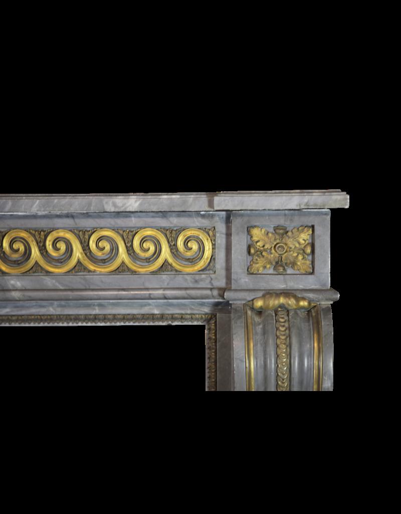 Groß Salon Kamin Maske Im Stil Louis XVI Mit Ursprünglichem Messing Vom 18Das Jahrhundert Periode