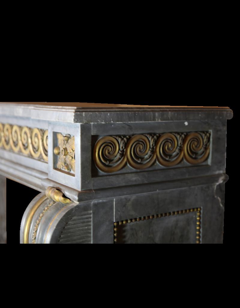 The Antique Fireplace Bank Groß Salon Kamin Maske Im Stil Louis XVI Mit Ursprünglichem Messing Vom 18Das Jahrhundert Periode