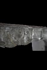 Maison Leon Van den Bogaert Antique Fireplaces & Vintage Architectural Elements Französisch Campan Vert Marmor Antik Kamin Maske