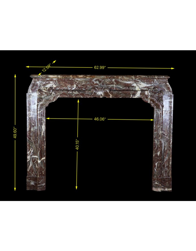 One Of Kind High 18Th Century Belgian Antique Fireplace Mantel
