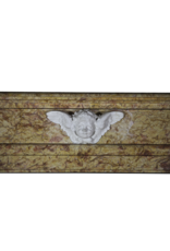 Classical Belgian Style Vintage Marble Fireplace Mantel