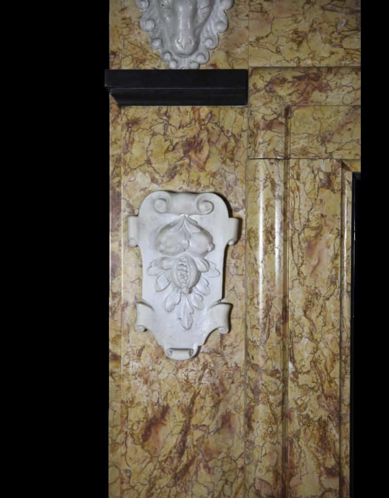 Klassische Belgische Art-Weinlese Marmor Kamin Verkleidung