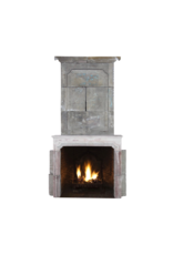 French 18Th Century Period French Country Limestone Fireplace Surround