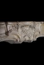18. Jahrhundert Feine Weinlese Kalkstein Kamin Maske