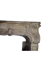 18Th Century Fine Vintage Limestone Fireplace Surround