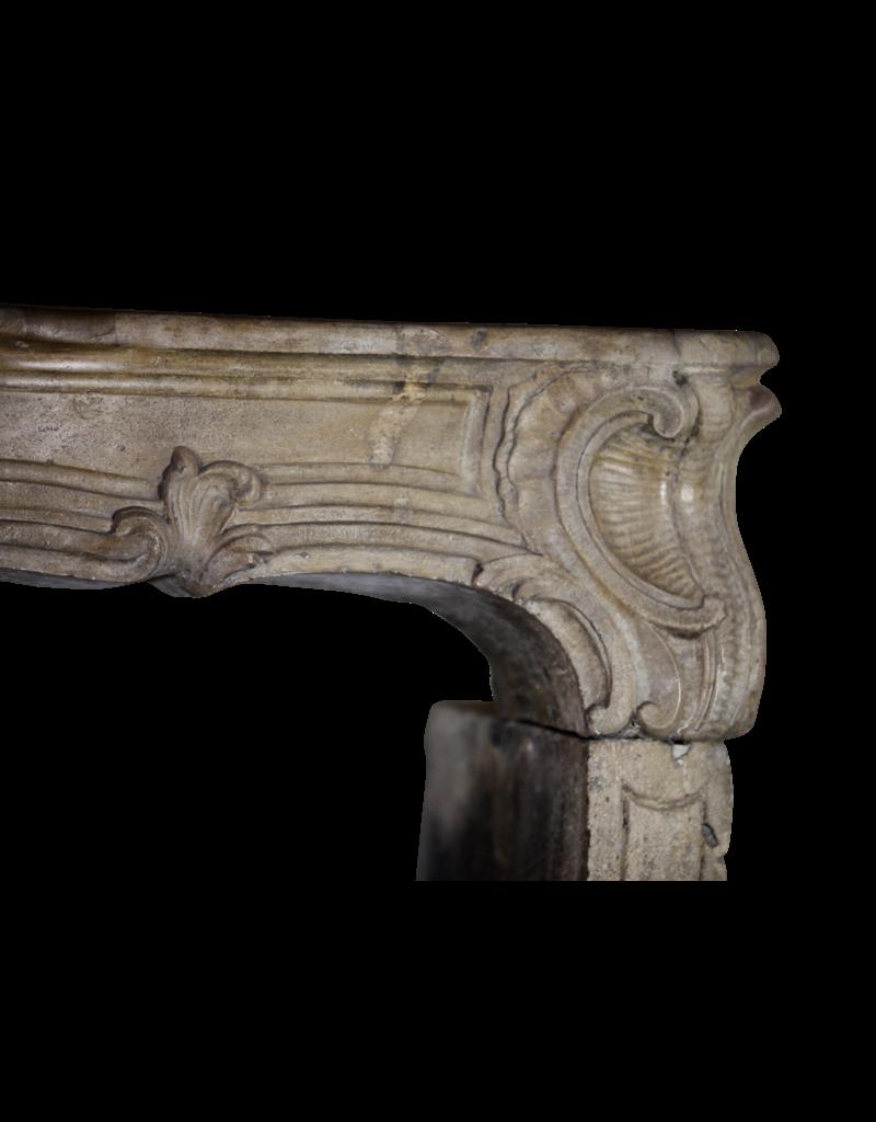 The Antique Fireplace Bank 18. Jahrhundert Feine Weinlese Kalkstein Kamin Maske