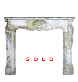19Th Century Classic French Marble Fireplace Surround