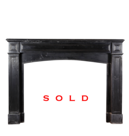 The Antique Fireplace Bank Rustic Black Belgian Marble Mantle
